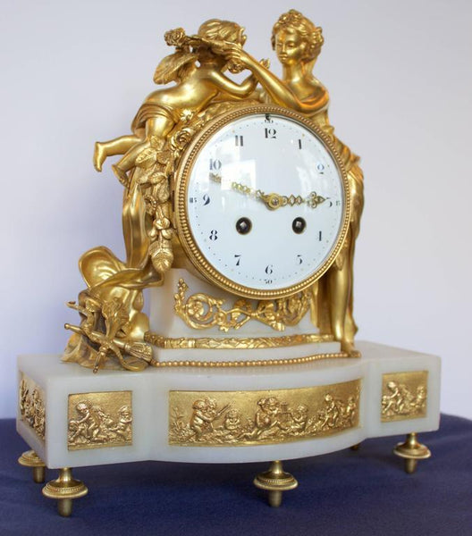 French 19th Century Antique Mantel Clock of Psyche and Eros Clocks Jacques Antiques