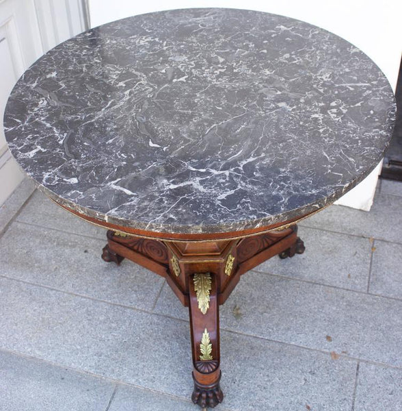 French Louis XVIII Period Marble-Top Gueridon Table Tables Jacques Antiques
