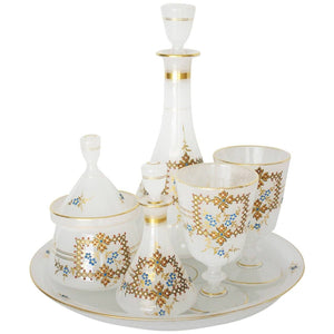 "French Six Piece Opaline Service Called ""Verre d'eau"" Serveware, Ceramics, Silver and Glass Jacques Antiques"