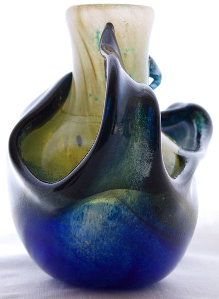 """La Mer"" Blown Glass Vase by Patrick Lepage Decor Pieces Jacques Antiques"