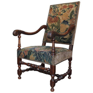 Louis XIII Fauteuil with its Original Tapestry, circa 1630 Seating jacques Antiques
