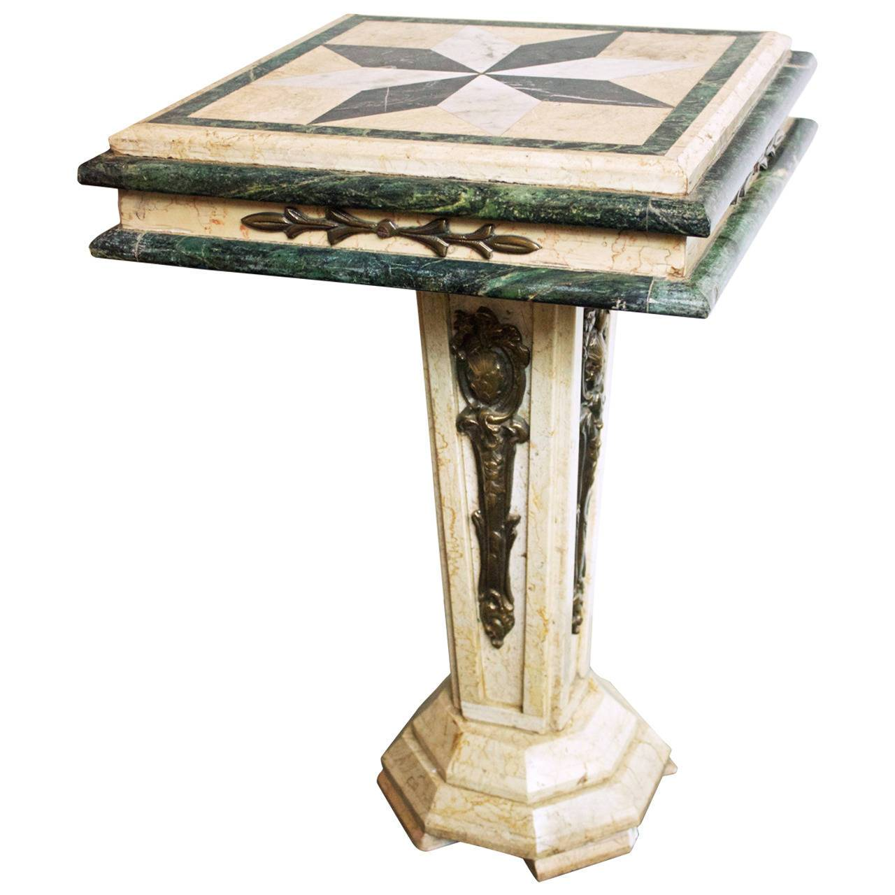 Marble Italian Gueridon Tables Jacques Antiques