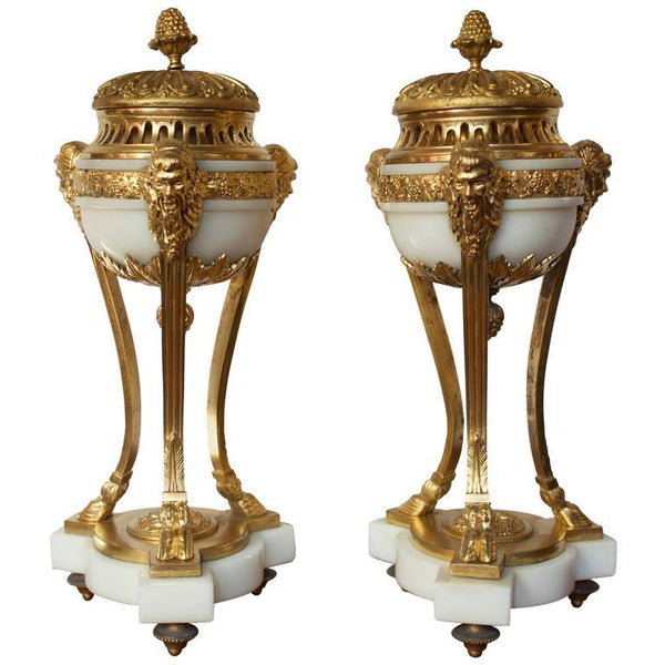 Pair of Early 19th Century French Incense Burners in Louis XVI Style Decor Pieces Jacques Antiques