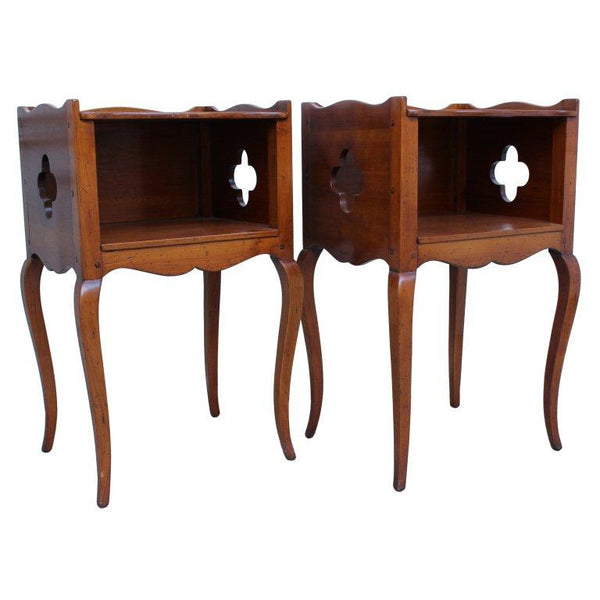 Pair of Louis XV Style Bedside Tables Tables Jacques Antiques