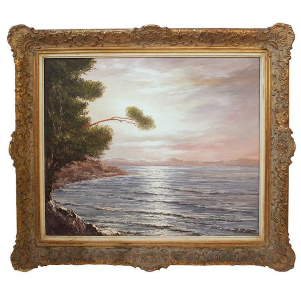"Signed Oil Painting ""Ostsee"" of the Baltic Sea Paintings Jacques Antiques"