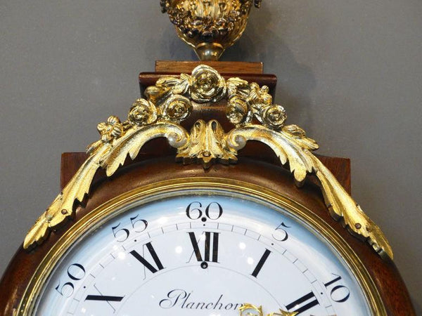 Superb 19th Century French Wall Clock in Louis XV St. Clocks Jacques Antiques