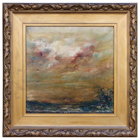 """Tempest Brewing"" Study by Charles M. Lang Paintings Jacques Antiques"