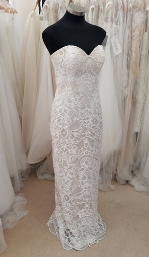 Drew Valentine DV17201 lace wedding gown