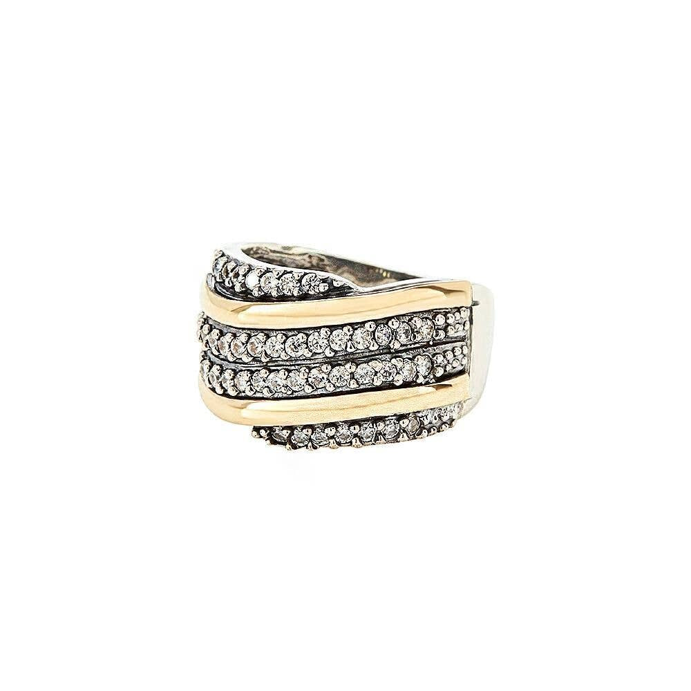 Grazia Papilio Chloe Ring - 14K Gold & Sterling Silver with Zirconia