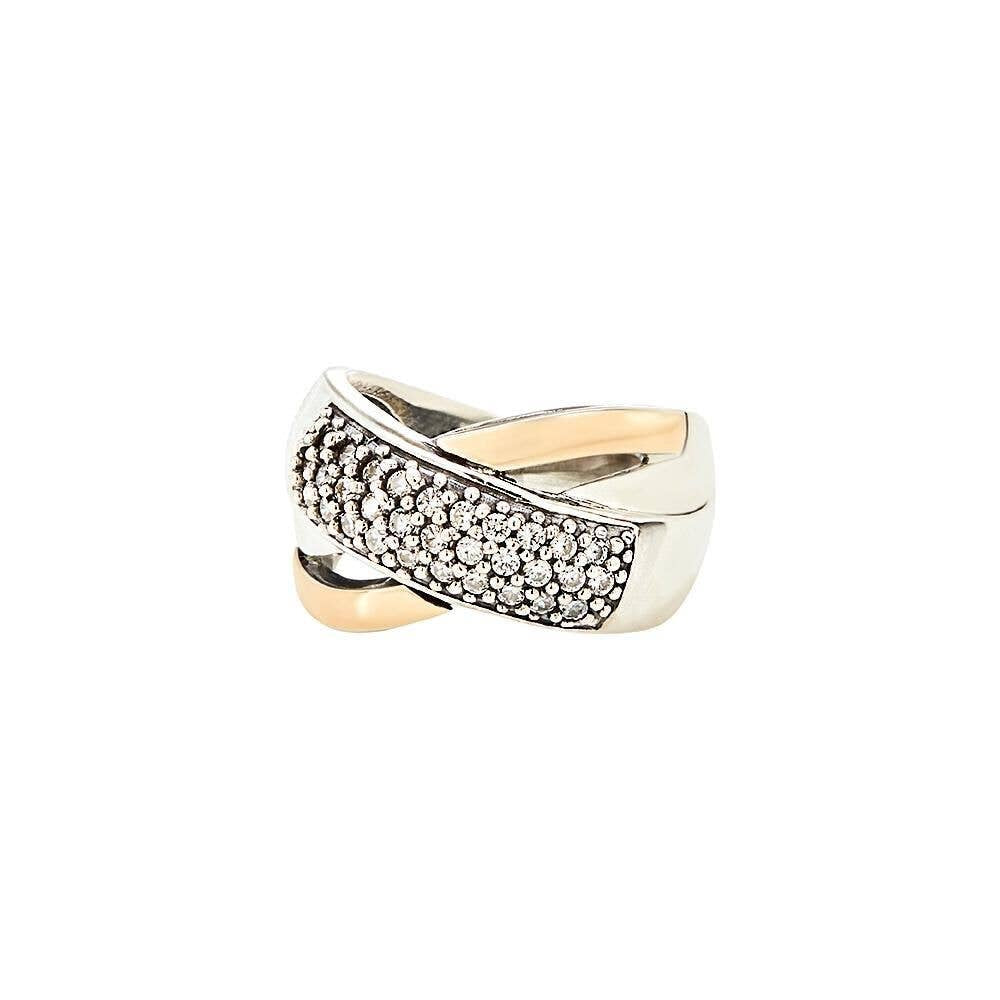Grazia Papilio Mon Amour Ring - 14K Gold & Sterling Silver with Zirconia