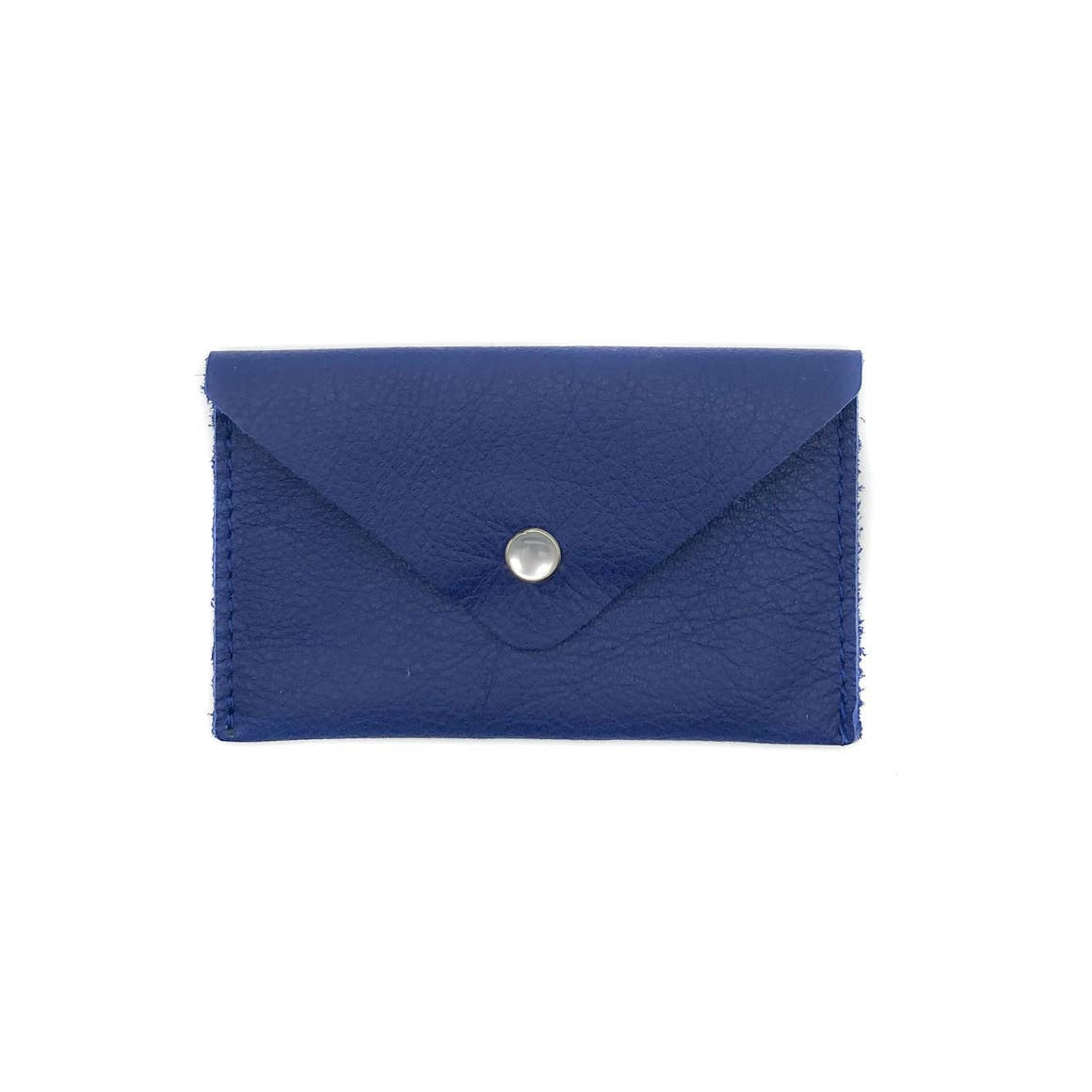 Crystalyn Kae Accessories Card Case Wallet in Cobalt Blue Upcycled Leather