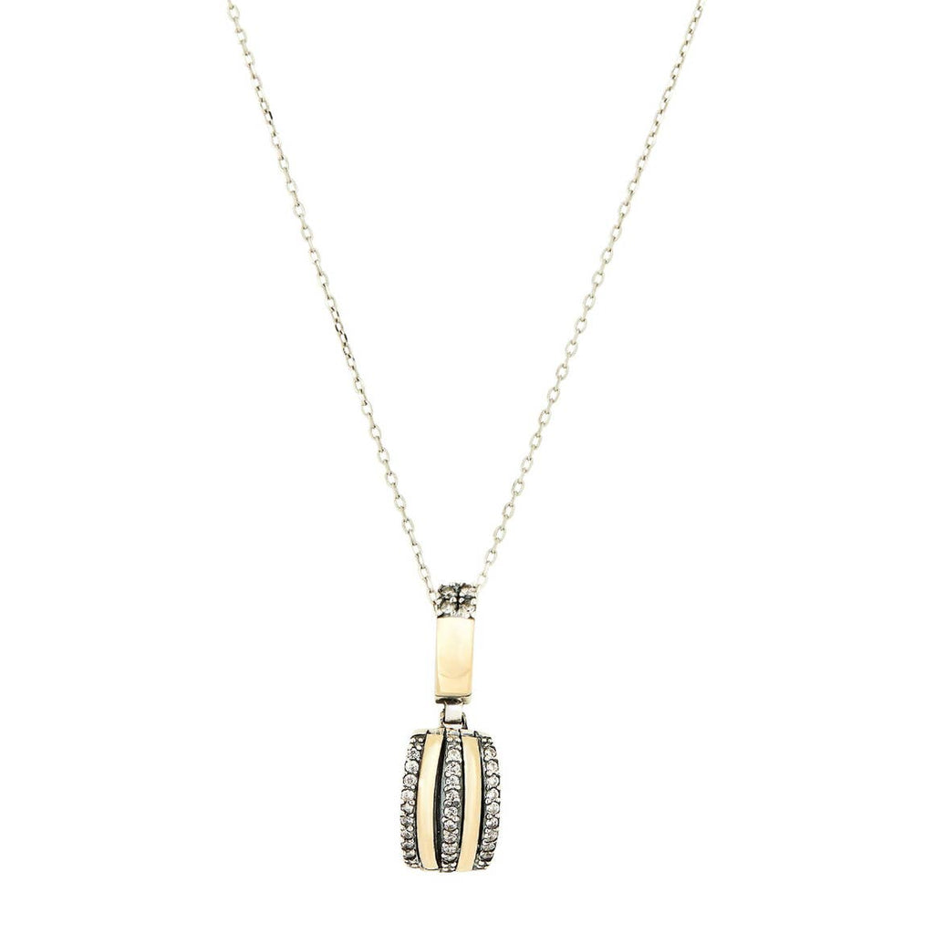 Grazia Papilio Estelar Necklace - 14K Gold & Sterling Silver with Zirconia