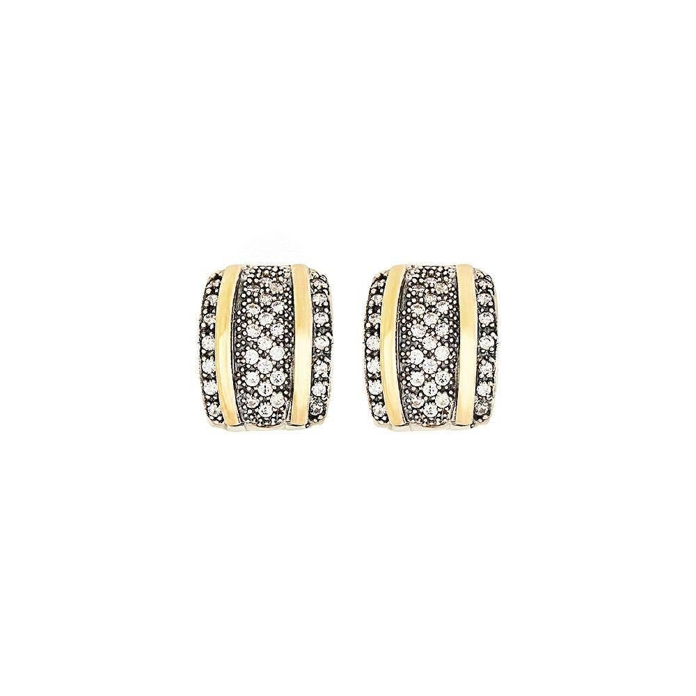 Grazia Papilio Infinity Earrings - 14K Gold & Sterling Silver with Zirconia