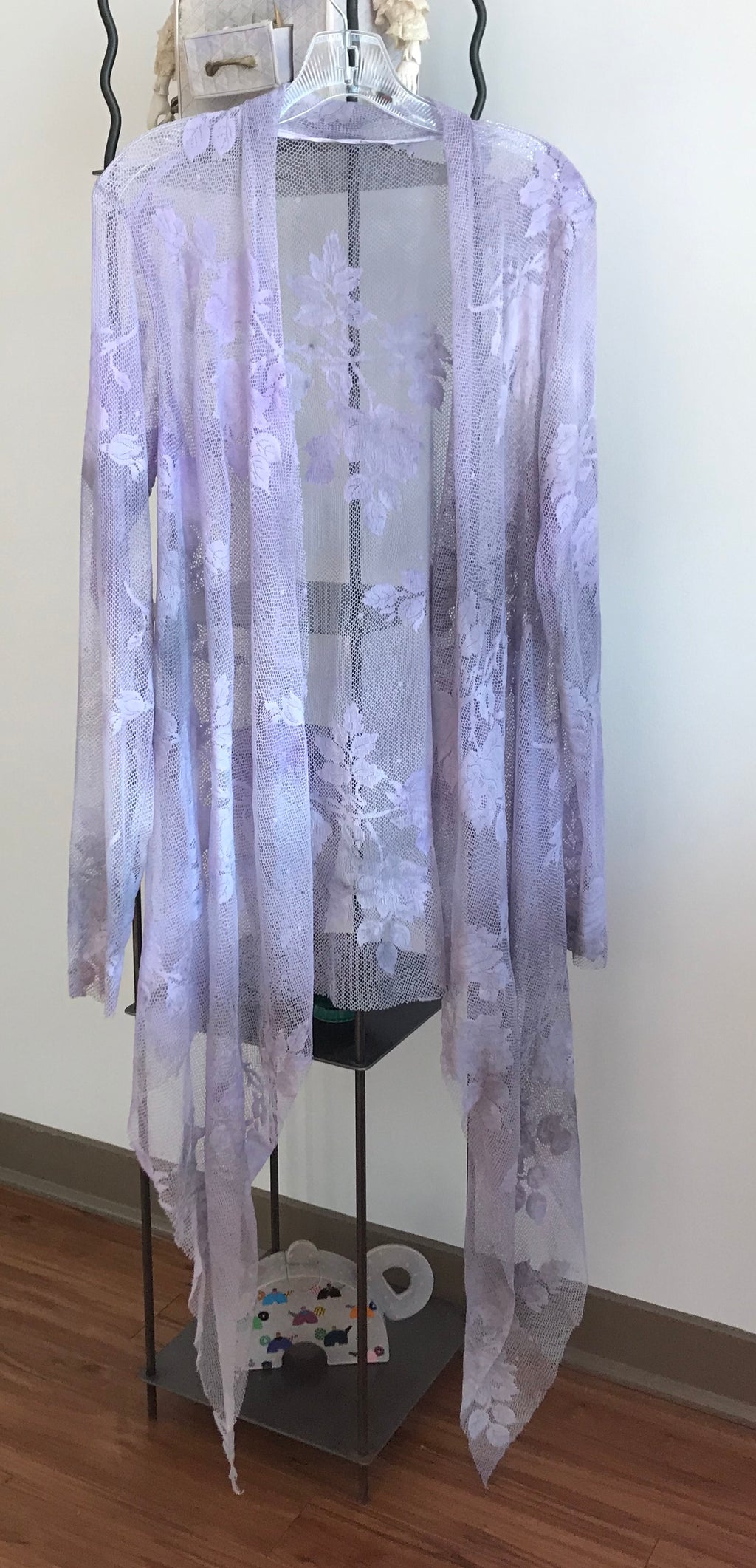 Robin Kaplan Garden Lace Duster in Light Lilac, Sz 2, on Sale