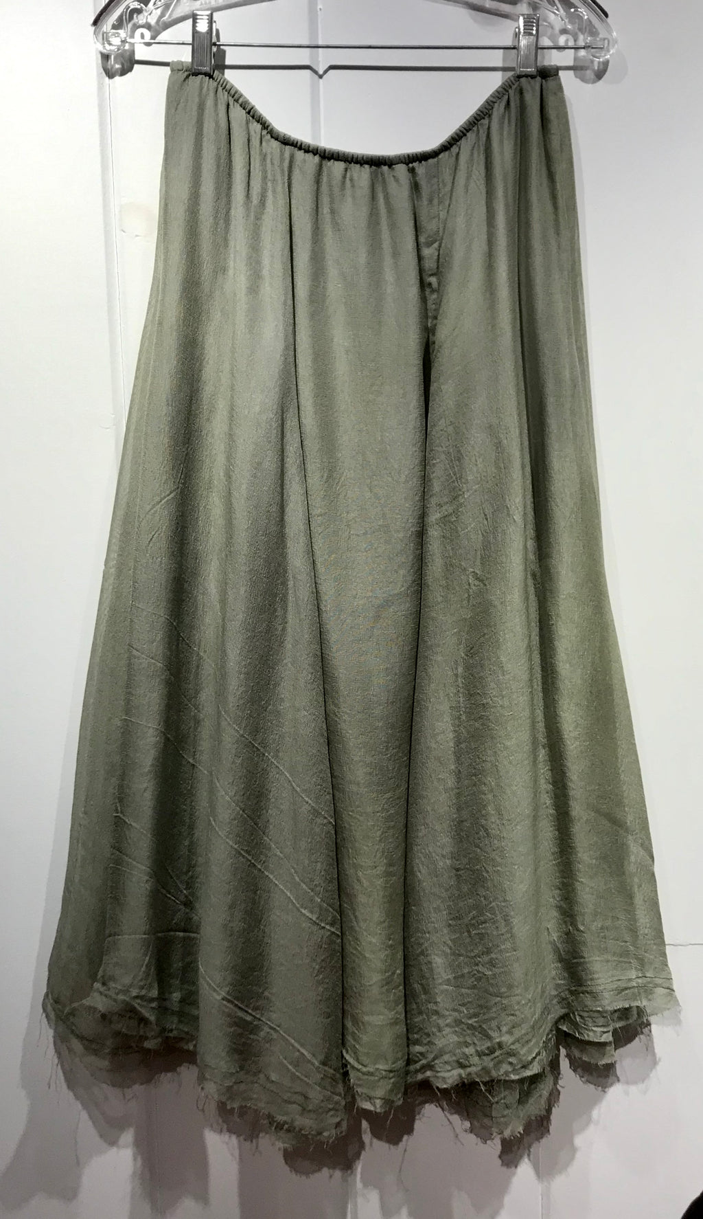 Judy Tampa Double Silk Skirt in Green in Size XL