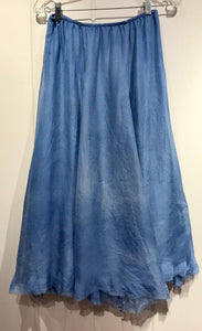 Judy Tampa Double Silk Skirt in Indigo