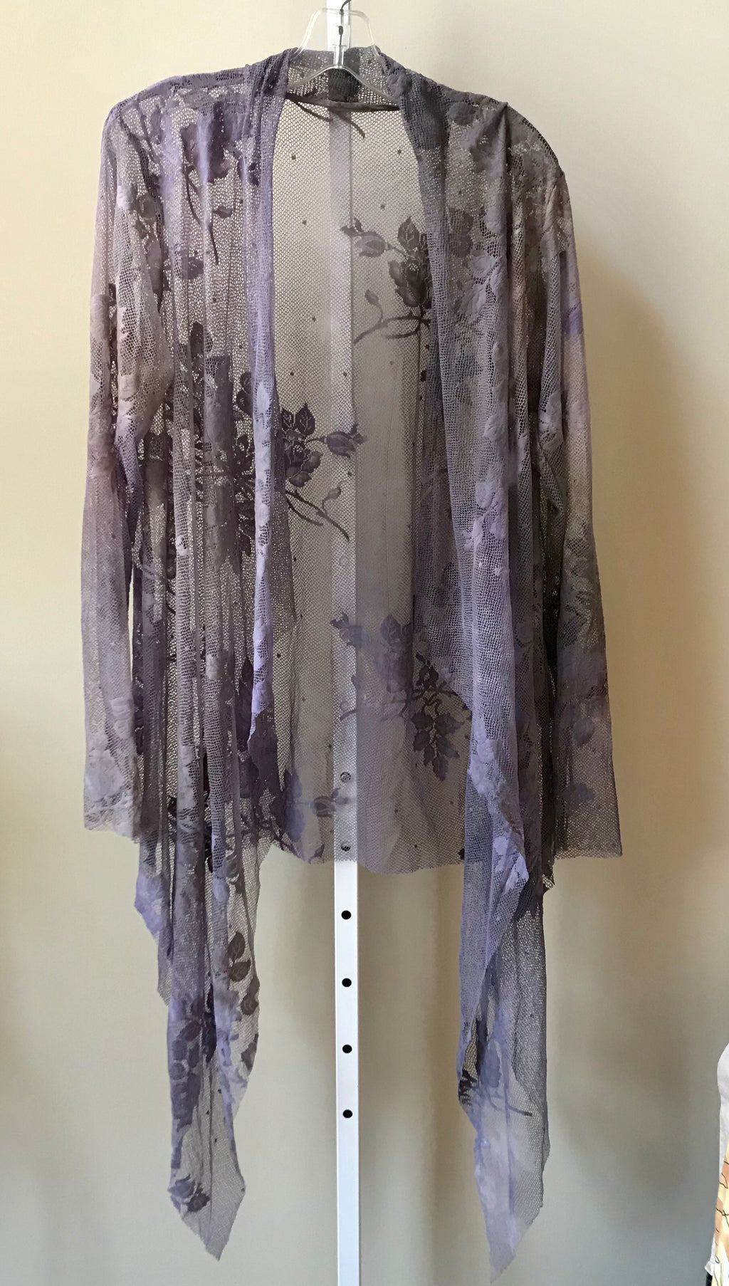 Robin Kaplan Garden Lace Duster in Lilac, Sz 3, on Sale