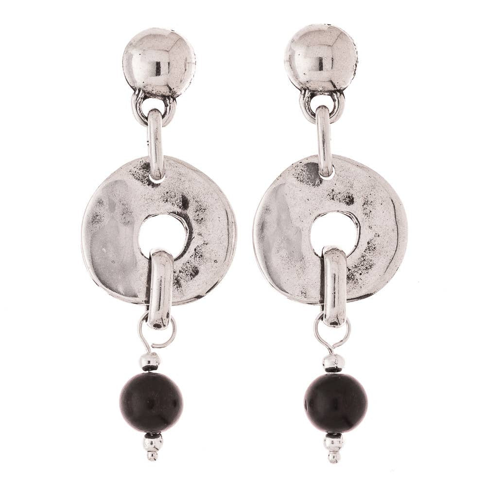 Trades by Haim Shahar Silver Collection Earrings (ME19)