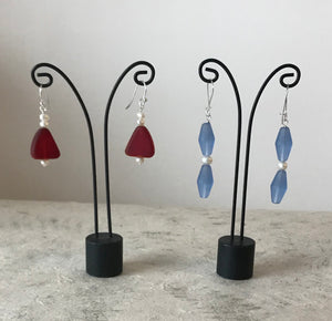 Nance Trueworthy Sterling Silver Faux Sea Glass Earrings, $45 each