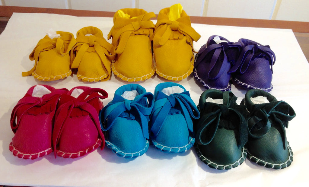 Barbara Reese Toddler Leather Moccasins on Sale