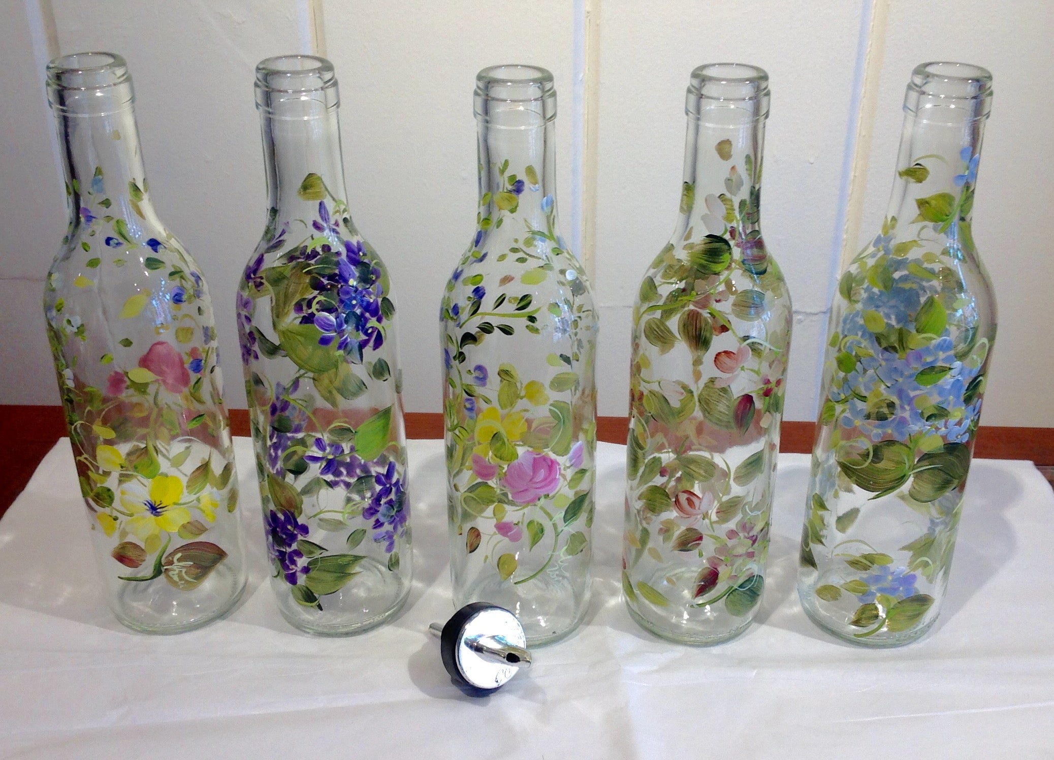 "Gift Suggestions - Handpainted 9"" High Bottles by Maria"