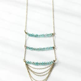 Rover & Kin Layered Aquamarine Necklace