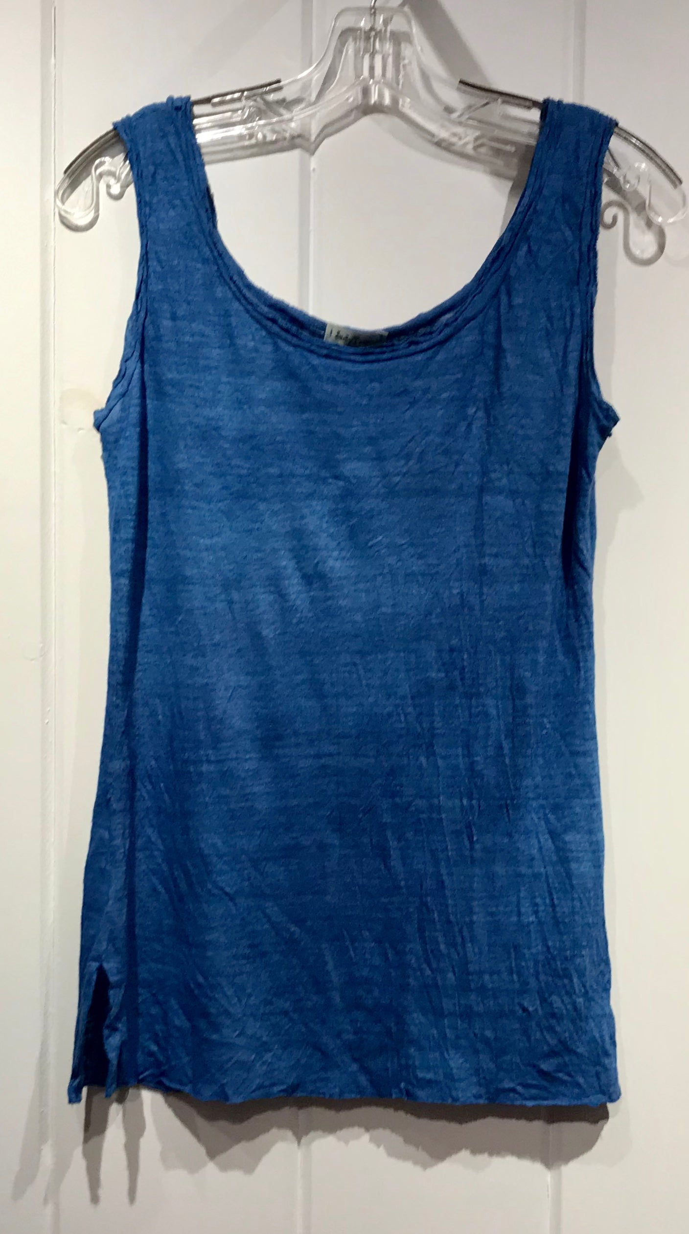 Judy Tampa Linen Knit Tank in Indigo, Sz M, on Sale
