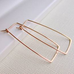 "Linda Trent Jewelry Rectangle 2"" (Gold Filled) Earrings"