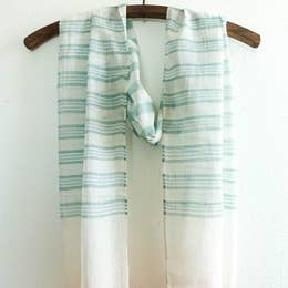 Rover & Kin Striped Green Scarf