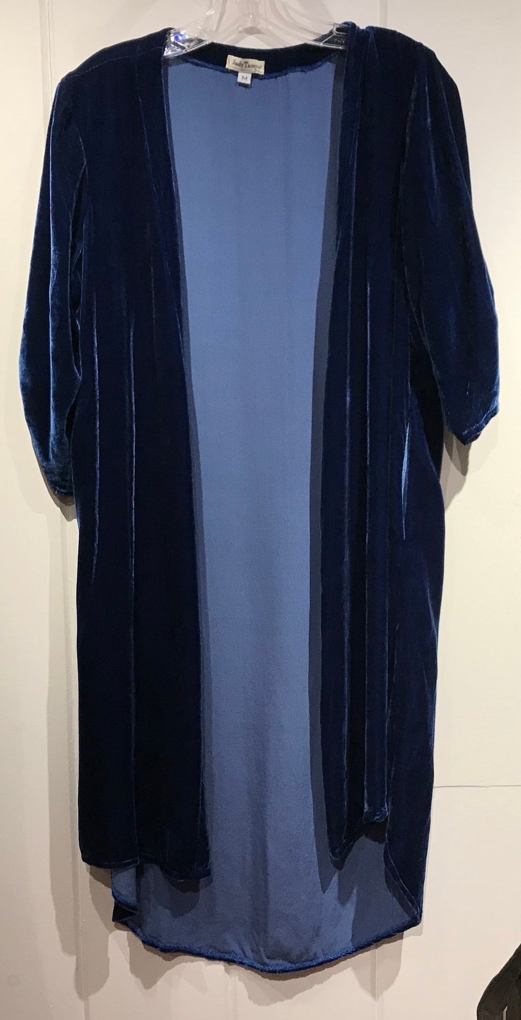 Judy Tampa Velvet Duster in Indigo in Size M on Sale