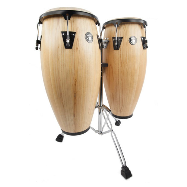 "5D2 Set De Congas 10"" And 11"" Maquinaria Cromado"