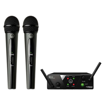 AKG WMS40 Mini Dual Vocal Set Wireless Microphone System US25B/D