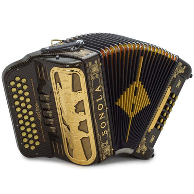 Sonola Emigrante II Accordion 5 Switches EAD Gold Carbon with Gold