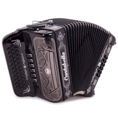 Cantabella Rey II Accordion FBE and EAD - 6 Switch Black Gloss