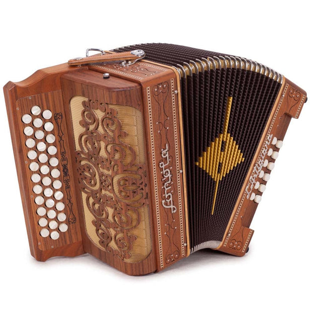 Sonola L'Artigiana Accordion Sin Registros con 3 Voces Fa Madera Natural con Blanco