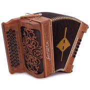 Sonola L'Artigiana Accordion Sin Registros con 3 Voces Fa Madera Natural con Negro