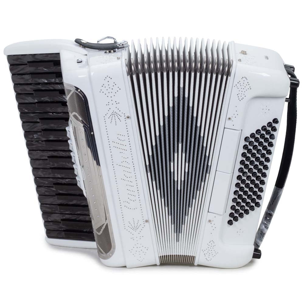 Cantabella Rey Piano Accordion 5 Switches Full White and Black Keys