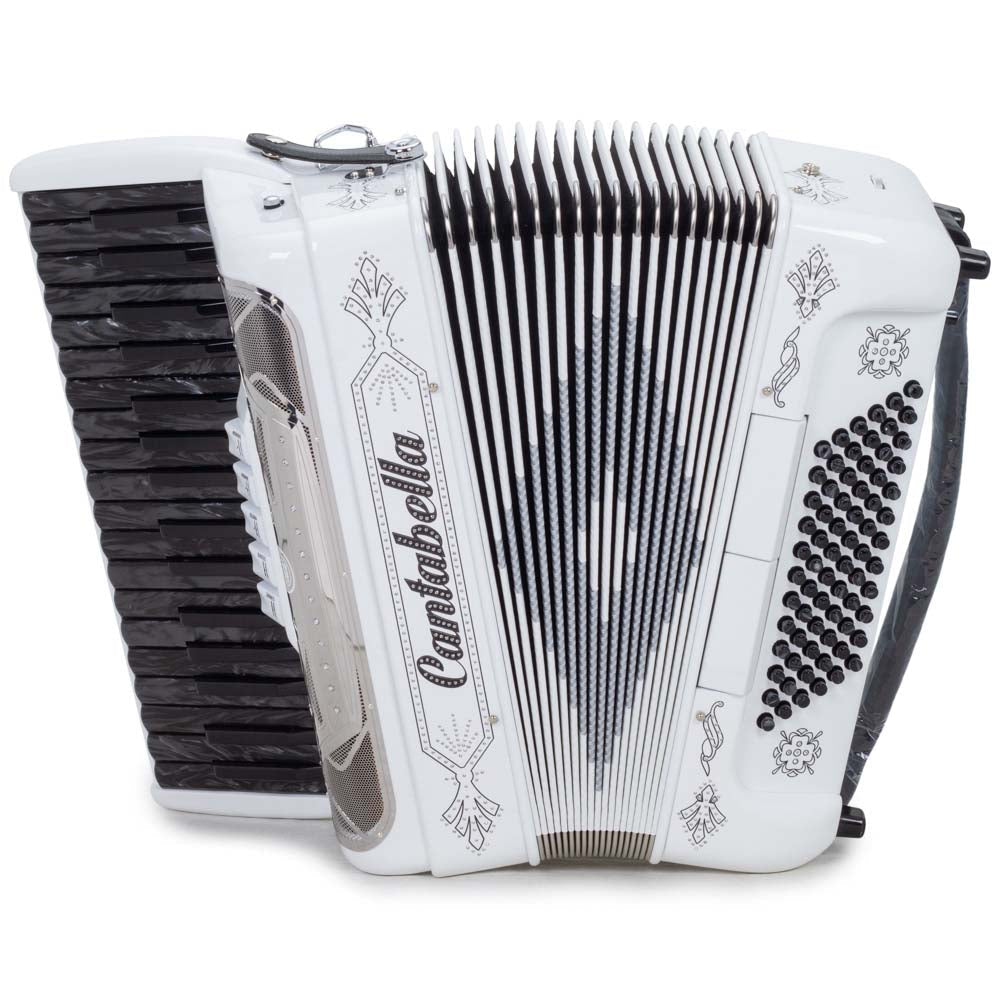 Cantabella Rey Piano Accordion 5 Switches White and Black Keys
