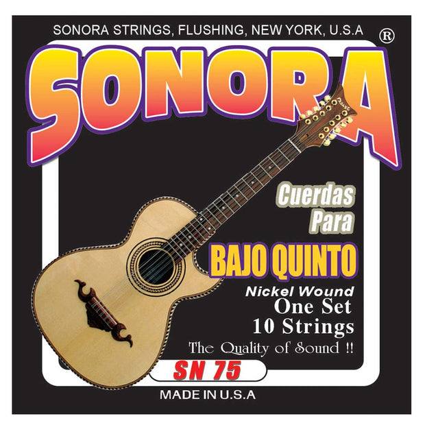Sonora SN75BE Bajo Quinto Strings Nickel Wound - Ball End