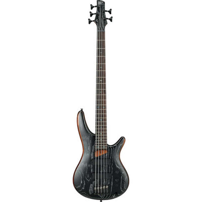 Ibanez SR675 SR Standard Series 5-String Electric Bass (Silver Wave Black Flat)