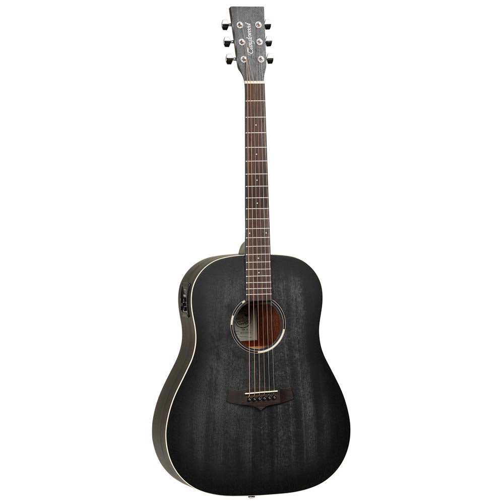 Tanglewood Blackbird Slope Shoulder Dreadnought Guitarra Acústica/Eléctrica Negra