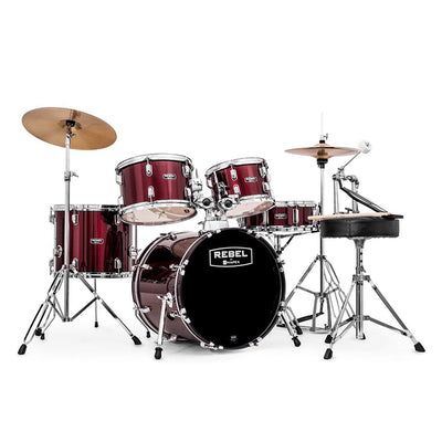 Mapex Rebel Set de Bateria Junior de 5 Piezas Rojo