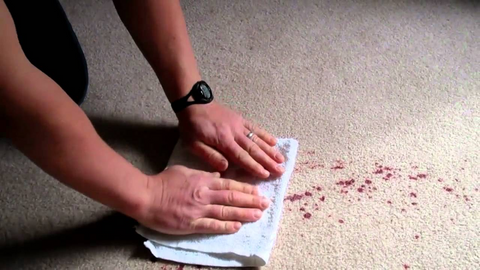 How to clean a rug with spots and spills on it