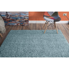 Modern Viva Collection Area Rug - Blue