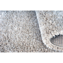Luxury Shaggy Lama Area Rug - Chrome White