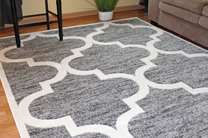 living room area rug grey