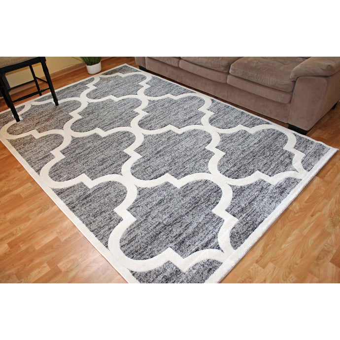 Beige or Grey Area Rug 5x7