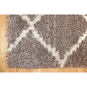 Oakland Shaggy Rug - Grain Brown