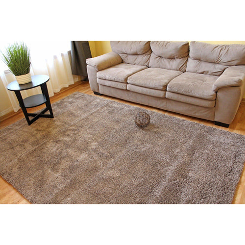 Helena Solid Shaggy Rug - White