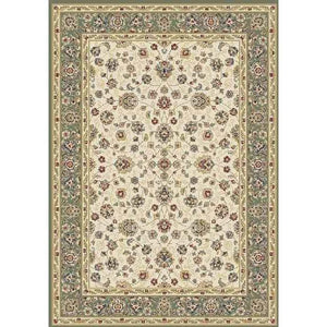 Floral Green Beautiful Modern Wool Rug - movaloom